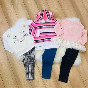 Baby Girl 6pc lot, size 12 months